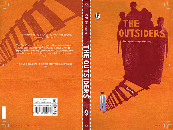 Book Cover Ideas For The Outsiders : Book cover design for the outsiders on behance