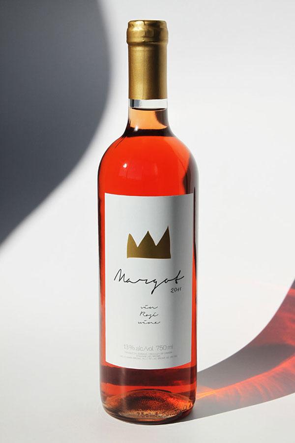 Paprika wine vin etiquette margot crown couronne rosée Label