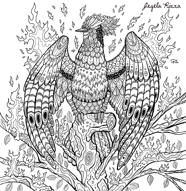 The Book Of Beasts Coloring Book On Fit Portfolios