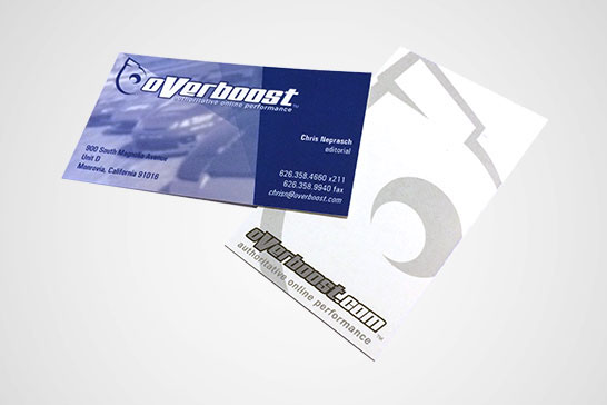 logo branding  Overboost automotive   Business Cards editorial