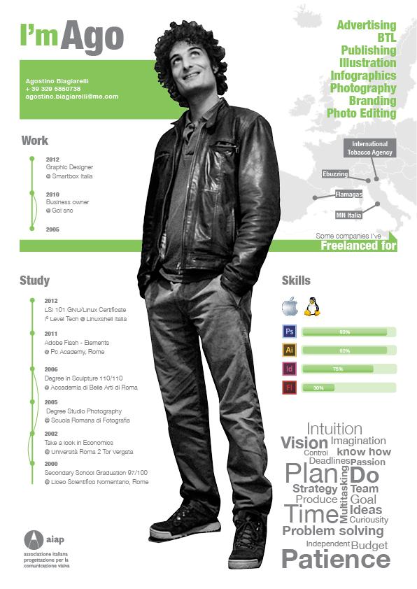 curriculum resume cv freelance designer advertising adv btl utl publishing illustration infographic photography branding photo editing
