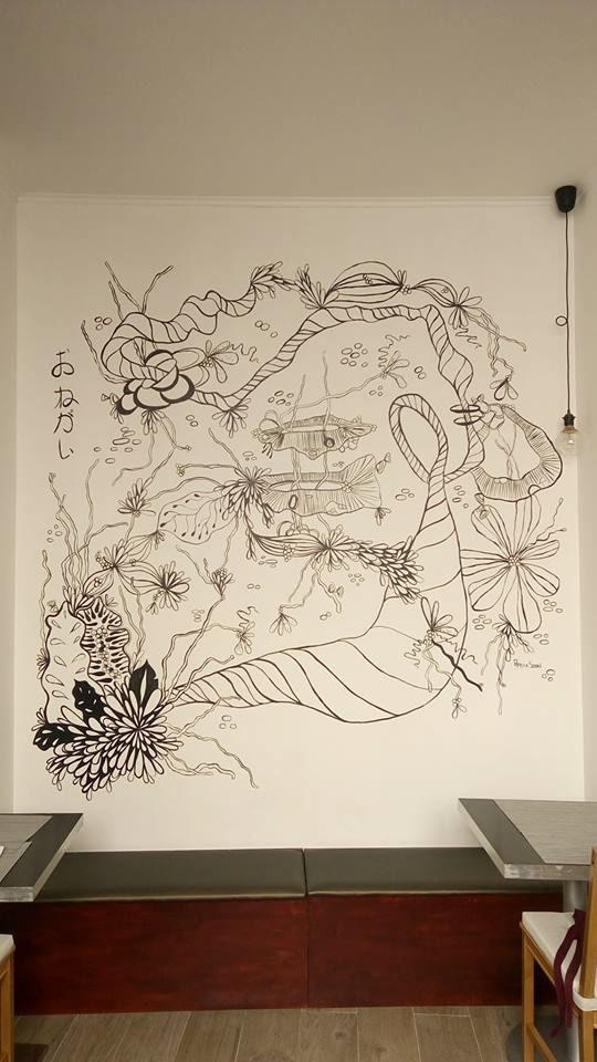 Logo Design,wall painting,painting  ,japan,Sushi,branding ,Stationery