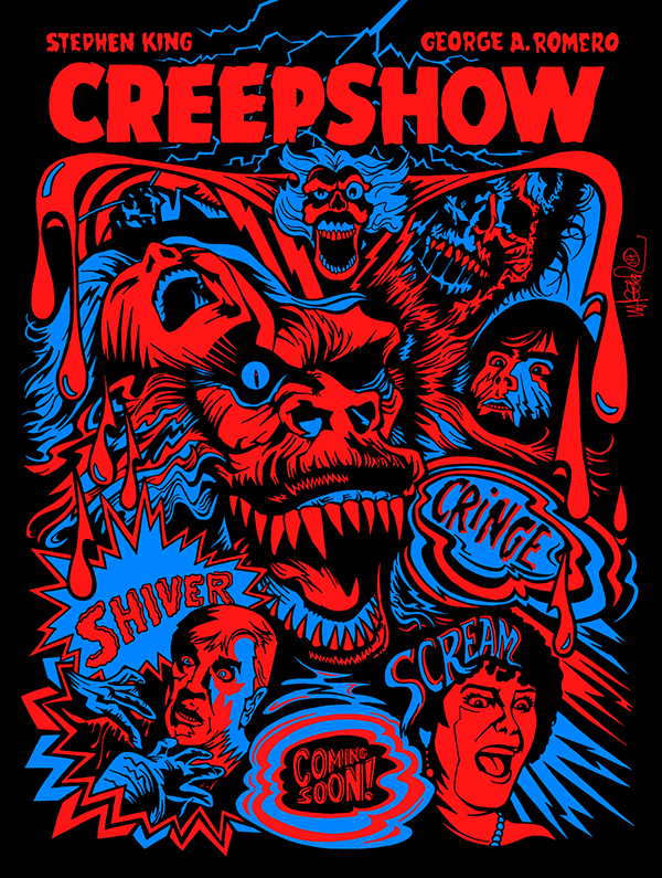 "CREEPSHOW  Movie Silk Fabric Poster 11/""x17/"" Horror Stephen King George Romero"