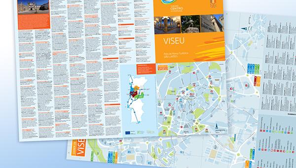 Tourism Map Leaflet City Of Viseu On Behance - Portugal map viseu