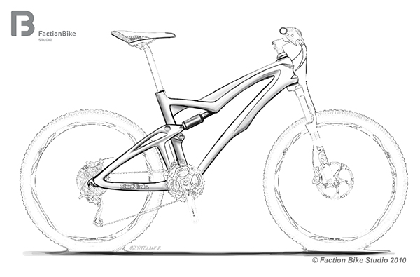 Double suspension mountain bike concept sketches on Behance