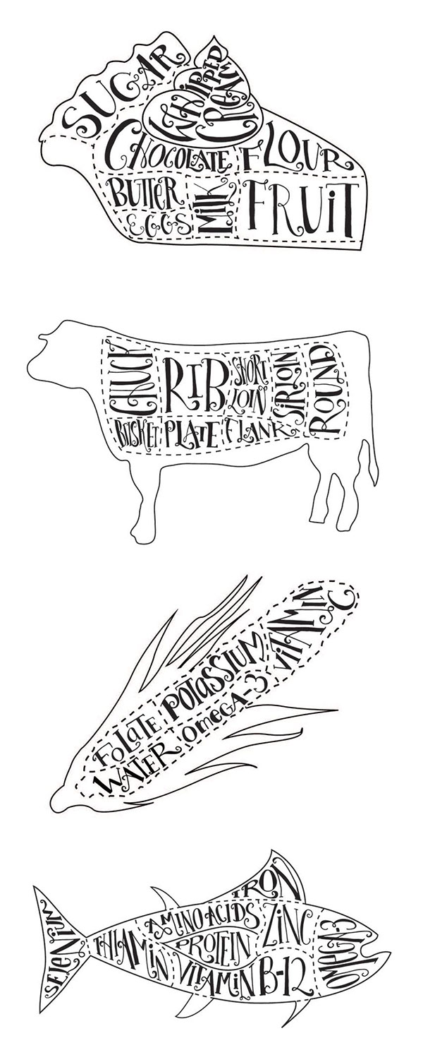 butcher cut illustrations on behance