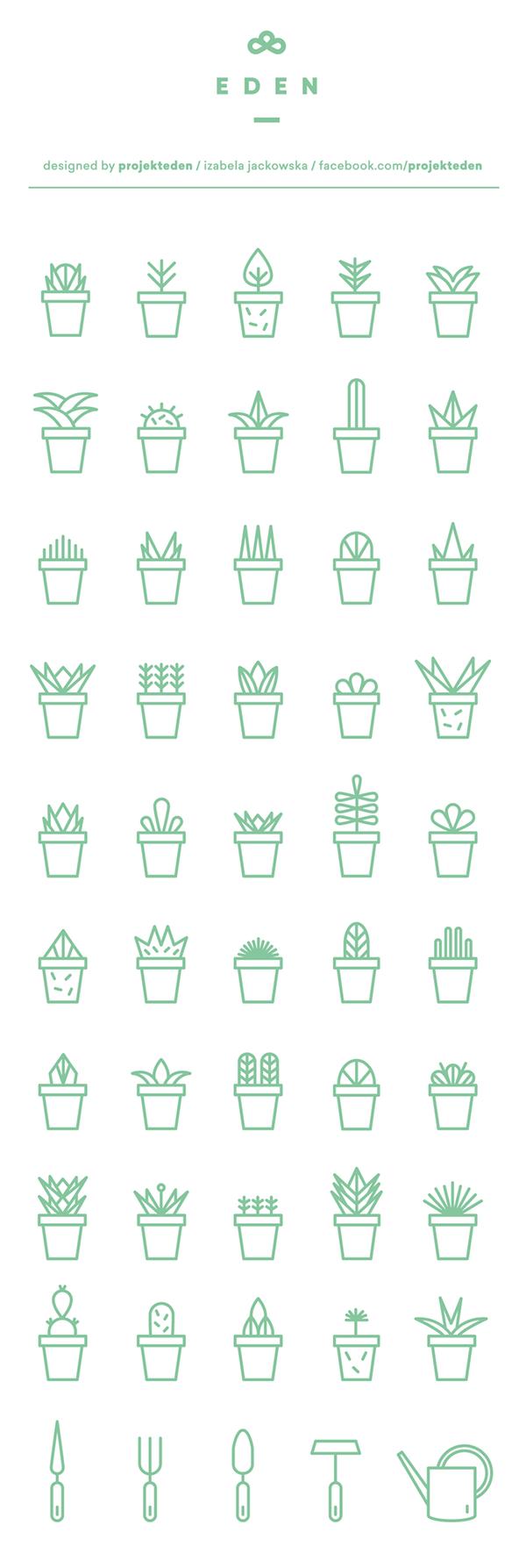 icon set Icon vector flower organic garden free download free download plants green projekteden projekt eden