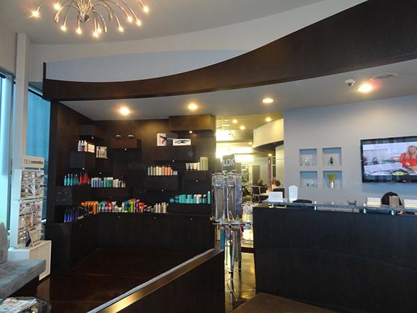 Interior retail design bianchi 39 s salon spa on behance for 77 salon oakland