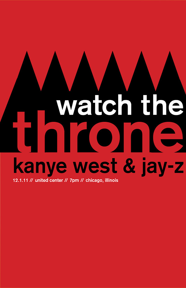 Watch The Throne Poster Watch The Throne Concert