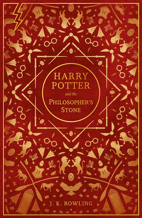 Book Cover Patterns Photo Free : Harry potter book covers on behance