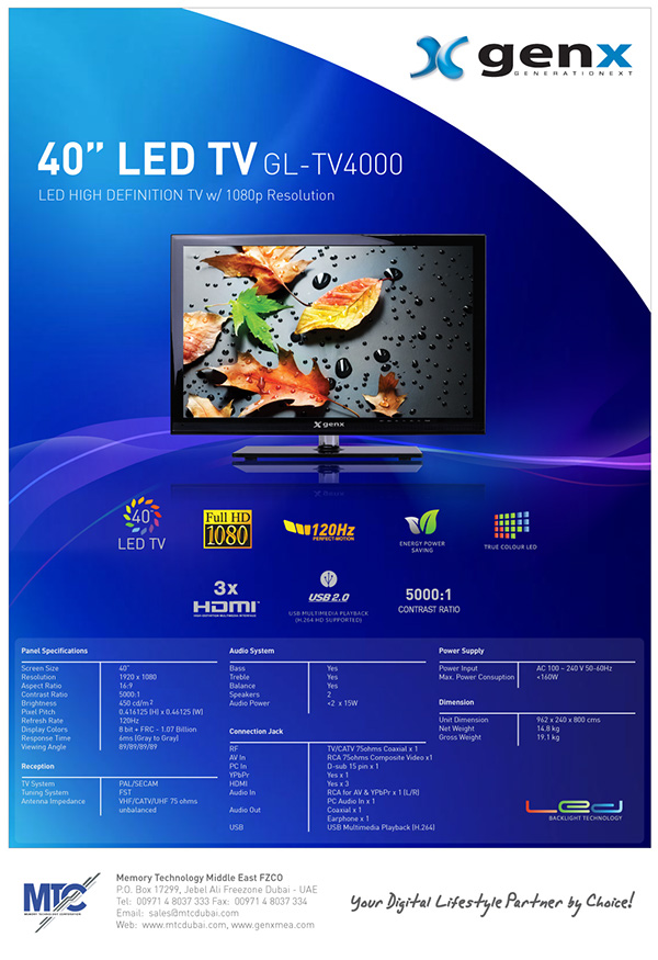 genx product flier Consumer Electronics brands