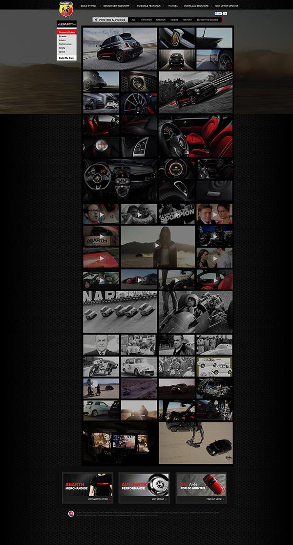 Abarth fiat web site digital design fiat 500 abarth 2012 abarth design sapient nitro  tfrlab Antonio Caballero