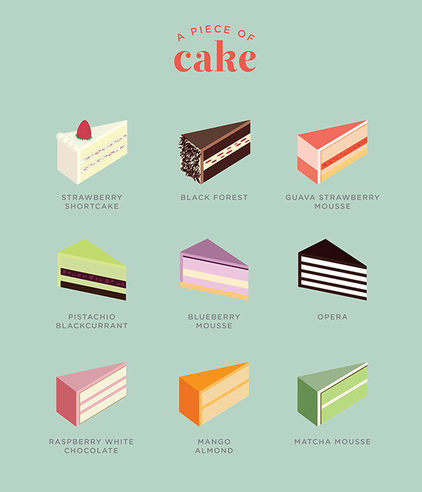 a piece of cake on behance