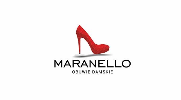 maranello shoes shoe shop logo business card buty obuwie obuwniczy szpilki