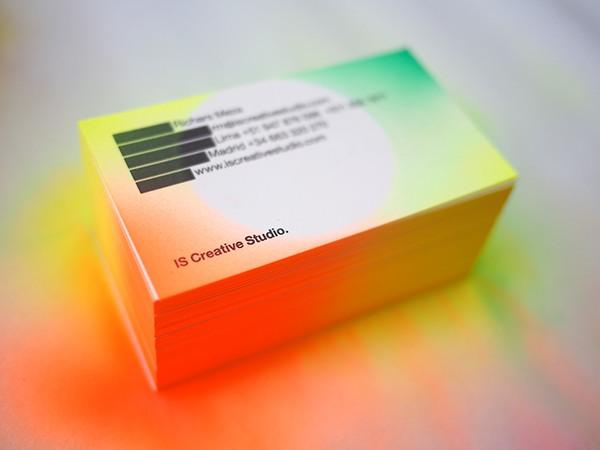 IS Creative Studio Business Cards neon gradient airbrush