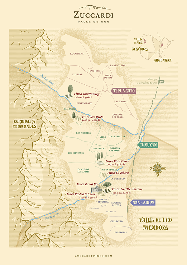 Zuccardis Winery Map On Student Show
