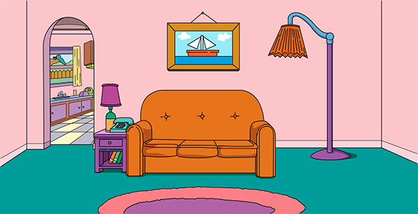 Simpsons Living Room