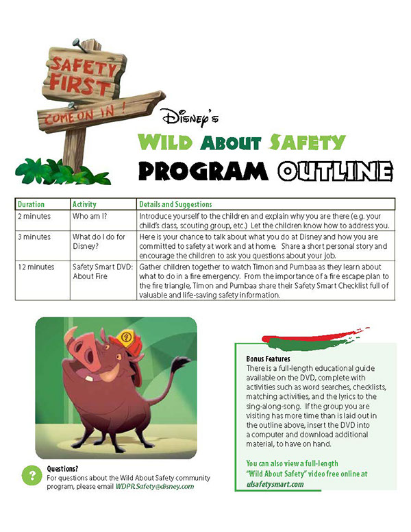 Disney's Wild About Safety: Champion Program on SCAD Portfolios