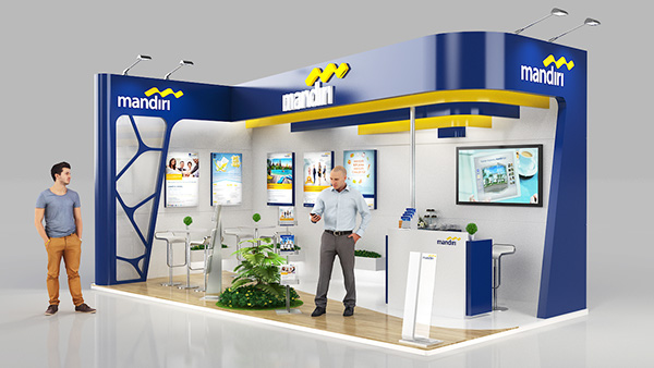 Exhibition Stand Designer Job Description : Bank mandiri on behance