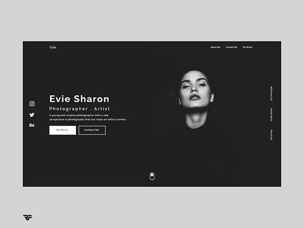 Photography Portfolio UI Concept