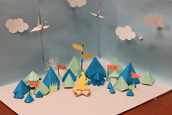 paper art camp fair creative camp fire