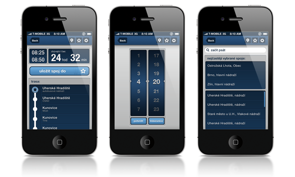 busuh bus bus timetable schedule Interface iphone
