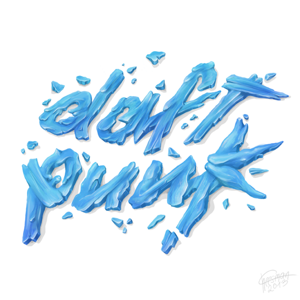 daft punk logo artwork on behance