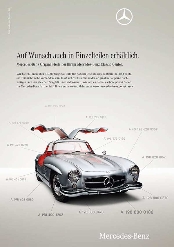 Mercedes benz classic on behance for Old mercedes benz parts