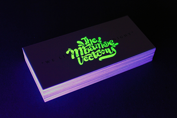 We live after midnight glow in the dark business card on behance thank you colourmoves