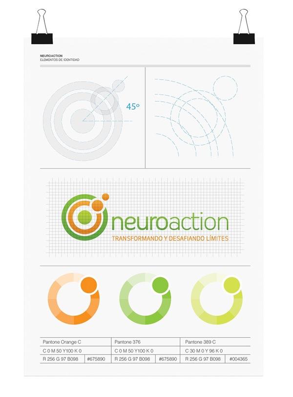 Neuroaction coaching psicology PHY therapy logo Guadalajara mexico organic brand imagotipo symbol diente de leon marca circle