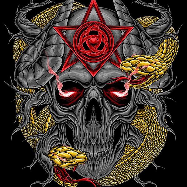 poisonous skull illustration