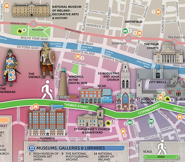 Dubline Pedestrian Tourism map on Behance