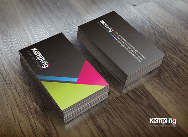 kempling interior design business card on behance