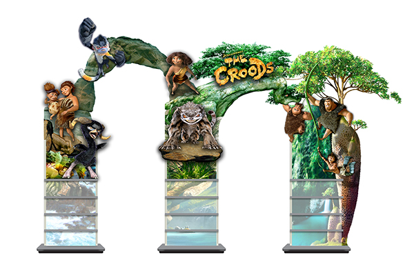 The Croods Toys R Us : Retail display design