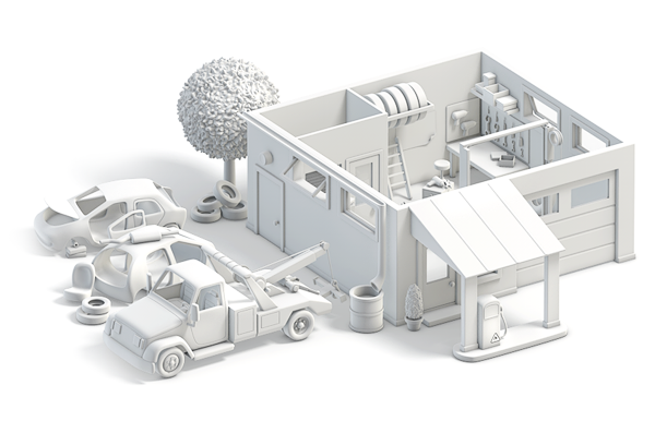 city town 3D toy Render Transport buildings Street house village Character ISO Isometric