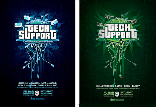tech support gig flyer series on behance