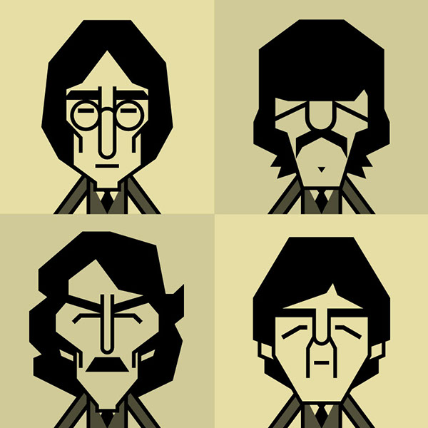 The Beatles Vector Graphic Caricature On Behance
