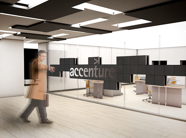 accenture acin center milano on behance