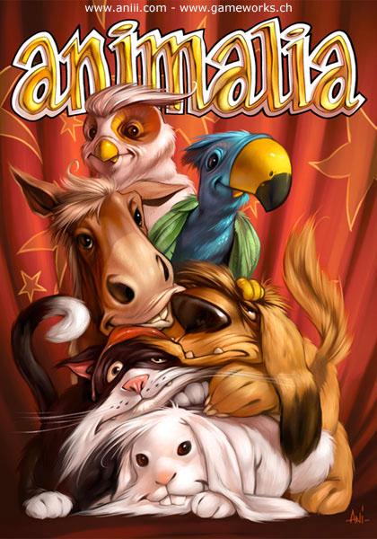 animalia animal Cat dog horse owl parrot card game boardgame Gameworks