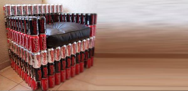 Proyecto de reciclaje sillones de latas on behance for Reciclado de sillones