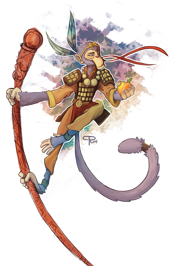 Character Design Jobs Nyc : Sun wukong the monkey king on behance
