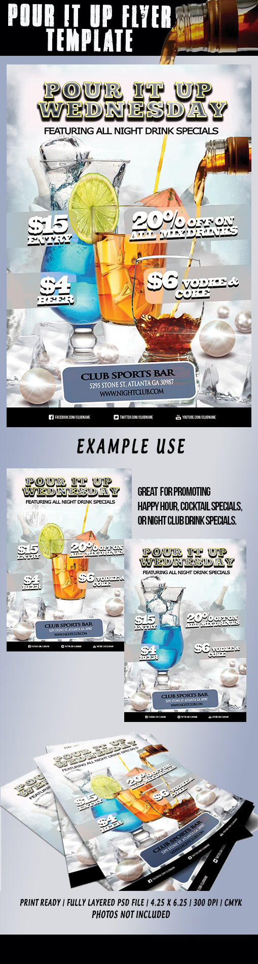 Pour it up drink specials template free download on behance saigontimesfo