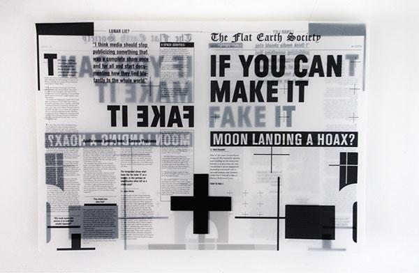 moon landing hoax fake tracing paper newspaper