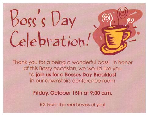Boss's Day Invite on Behance