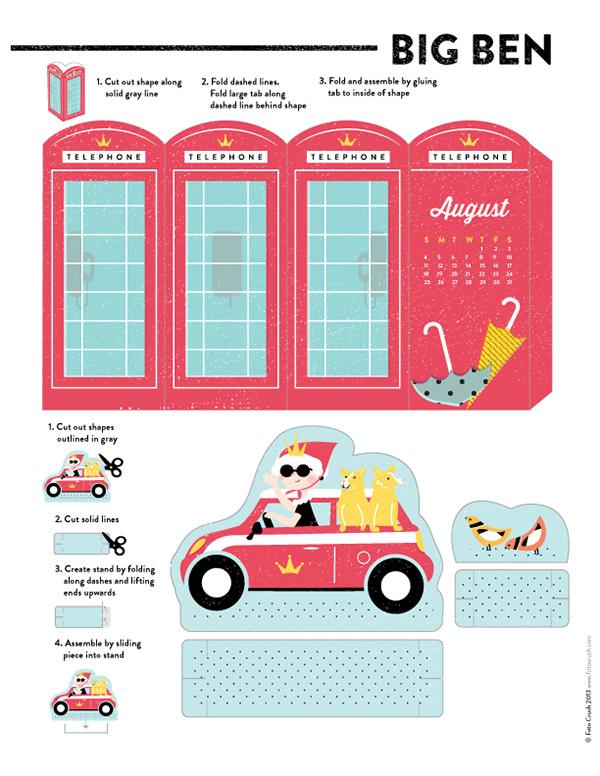 Character Design Job London : London paper craft on behance