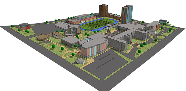 Saint Mary S University Campus Map On Behance