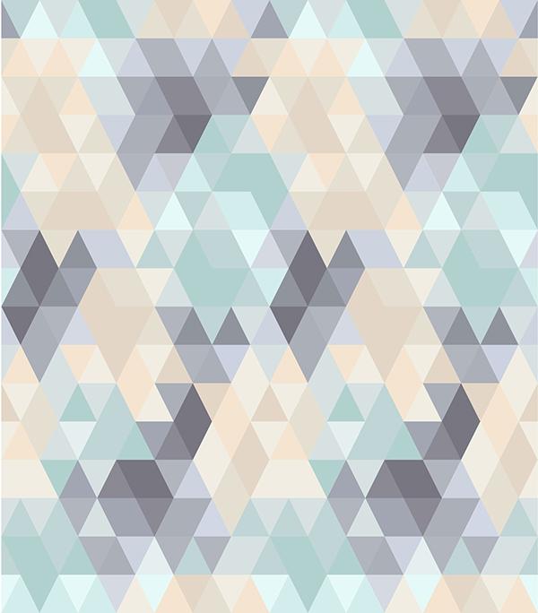 Pastel geometric on Be... Pastel Aztec Pattern Wallpaper