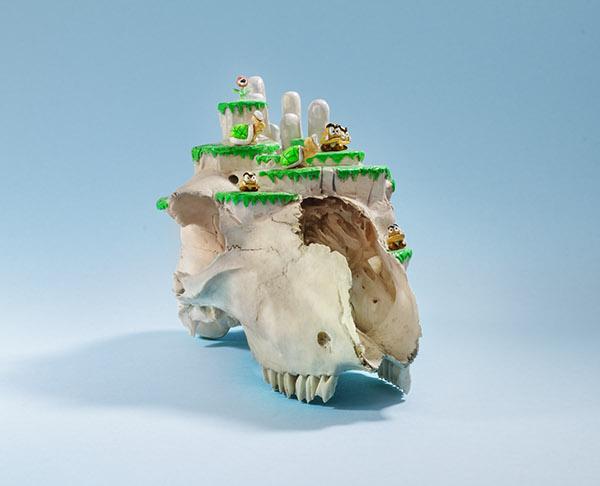 mario Super Mario Level skulls skull 8 bit