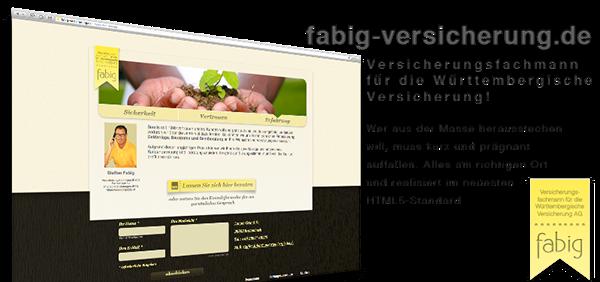 insurance Versicherung Website Web Single Page Corporate Identity