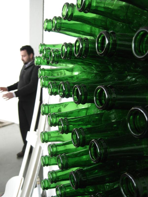 bottles Big Letter beer the letter i sculpture green glass